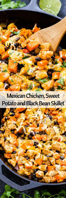 Mexican Chicken, Sweet Potato And Black Bean Skillet Delicious