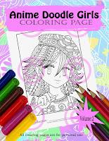 anime doodle girl artist girl