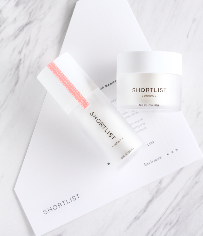 Shortlist, Shortlist Serum, Shortlist Cream, Shortlist Review, Shortlist Beauty Review, Less Is More Beauty
