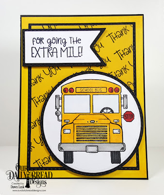 School Bus Driver, Birthday Brights Paper Pad ODBD Custom Dies: Double Stitched Rectangles, Rectangles, Double Stitched Circles, Circles, Double Stitched Pennant Flags, Pennant Flags