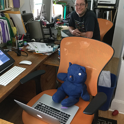Blue Bear and Kurt Keller in the studio