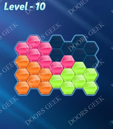 Block! Hexa Puzzle [Rainbow A] Level 10 Solution, Cheats, Walkthrough for android, iphone, ipad, ipod