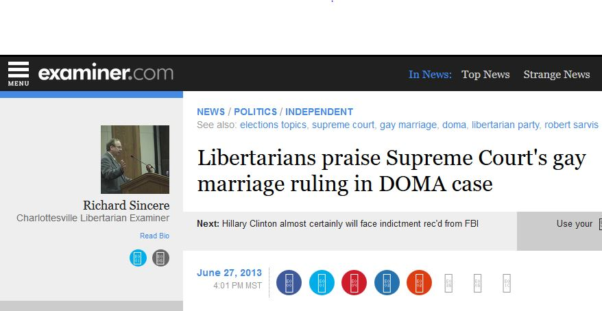 Libertarian Party four-decade advocacy for marriage ...