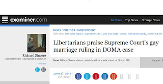 Libertarian Party gay marriage DOMA Supreme Court