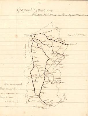 Cahier journalier, leçon de géographie, 1878 (collection musée)