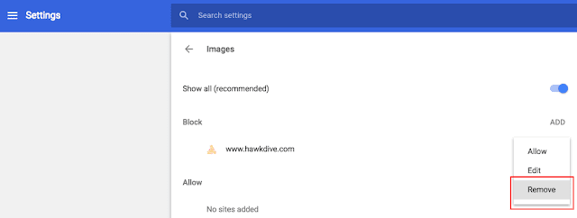 Unblock Content in Chrome