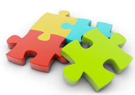 four puzzle pieces, three of which are identical