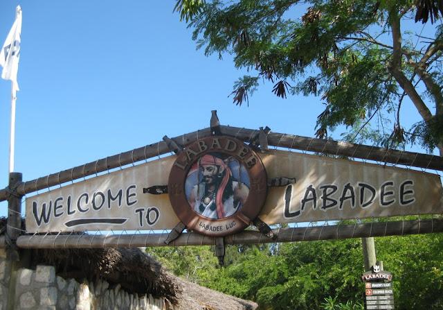 Welcomeschild mit Labadee Luc