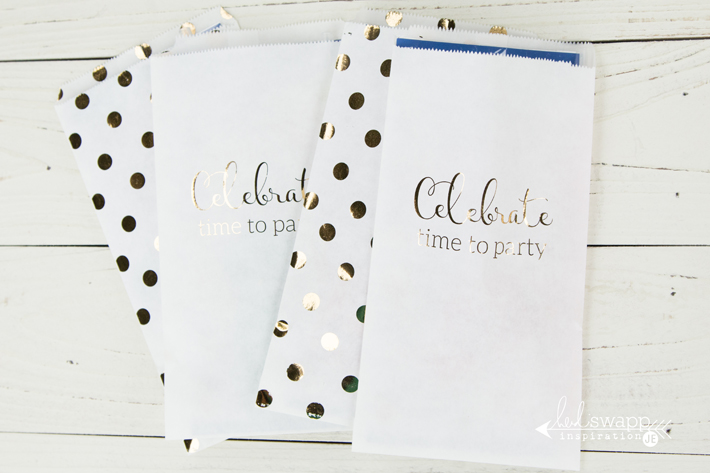Fun and easy gold foiled treat bags that I created in minutes! Free printable too! @createoften for @heidiswapp