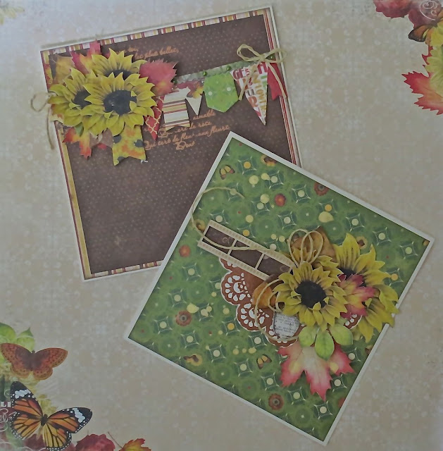 Enchanted Harvest & Copper Filigree Rubon Cards by Megan Gourlay for BoBunny