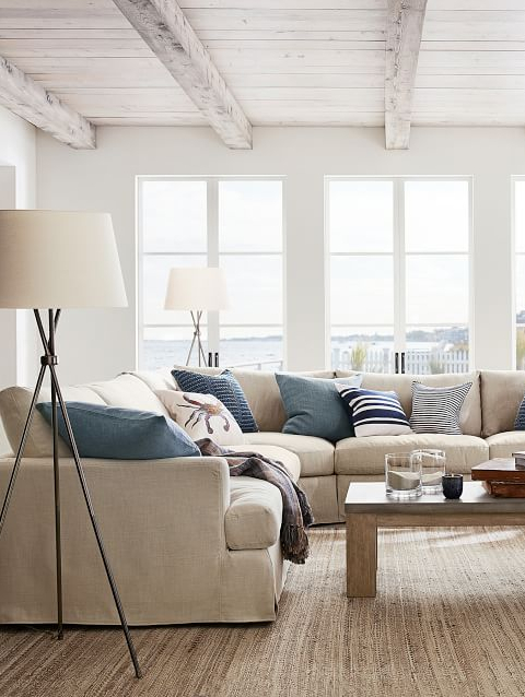 Coastal Living Beige Sofas and Sectionals