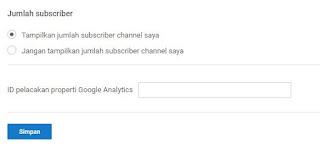 menyembunyikan jumlah subscribe youtube
