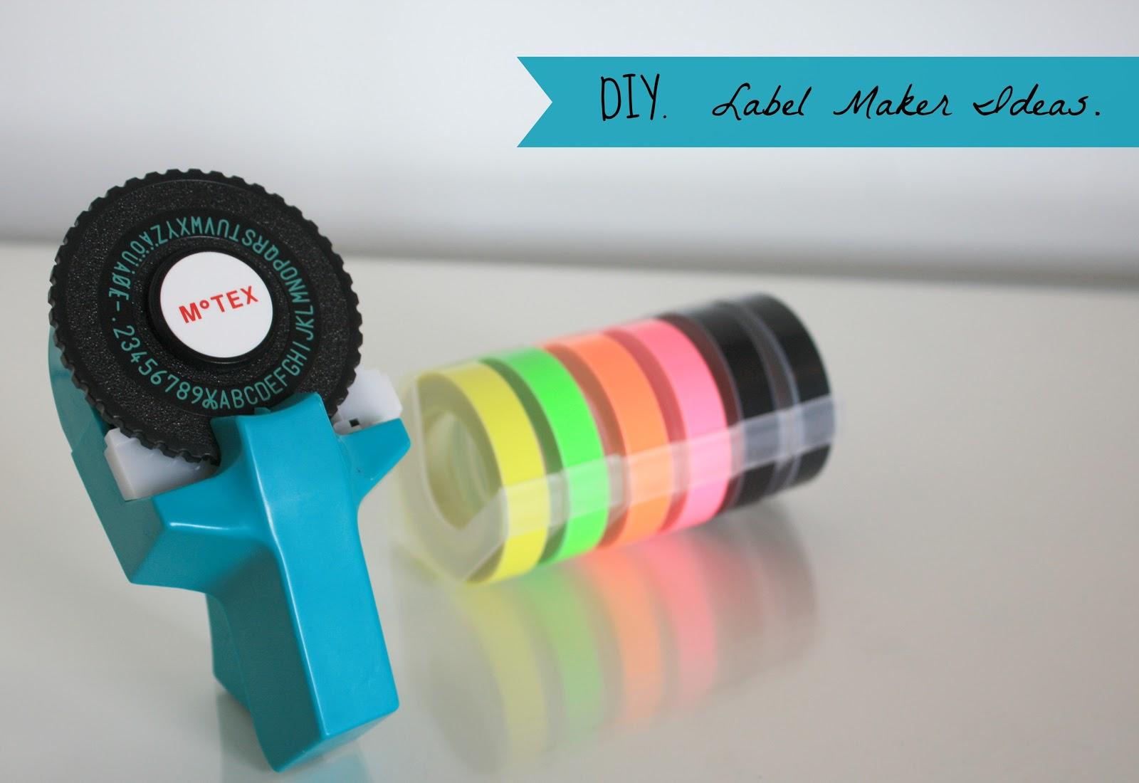 DIY: LABEL MAKER IDEAS.