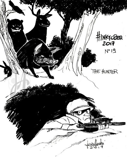hunter-inktober-luciaalocchiart