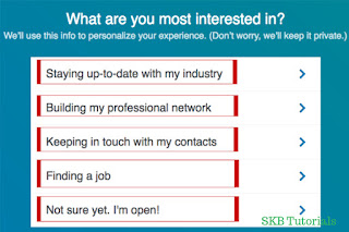 what are you most interested in choose one linkedin