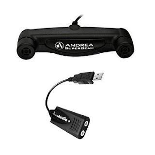 Andrea noise cancelling USB external soundcard