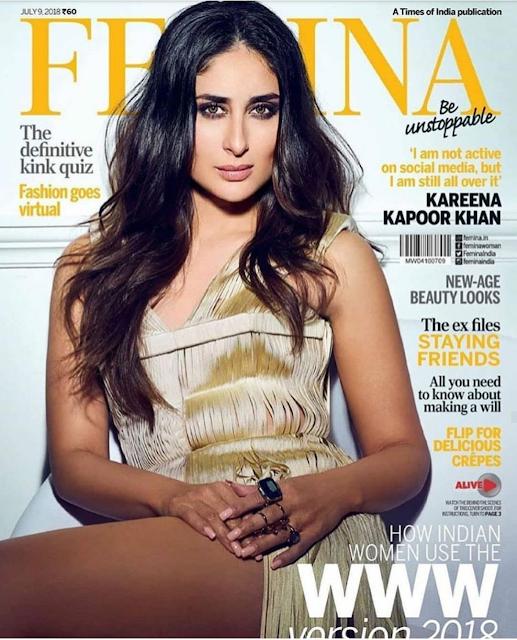 Gorgeous Kareena Kapoor Covers the July 2018 Issue of Femina Magazine