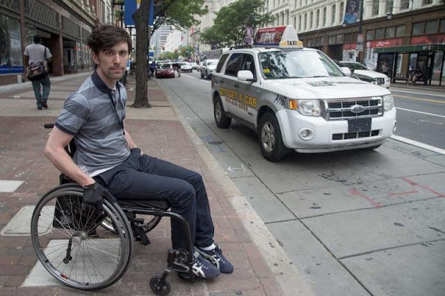 Ruas para deficientes físicos na Filadélfia