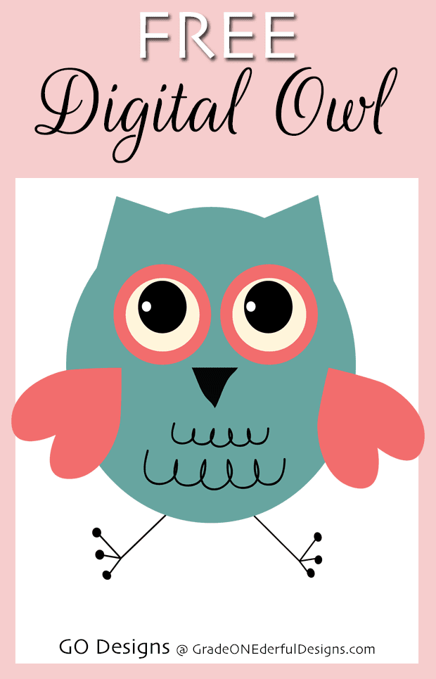 Free Vintage Owl: Valentine Clipart
