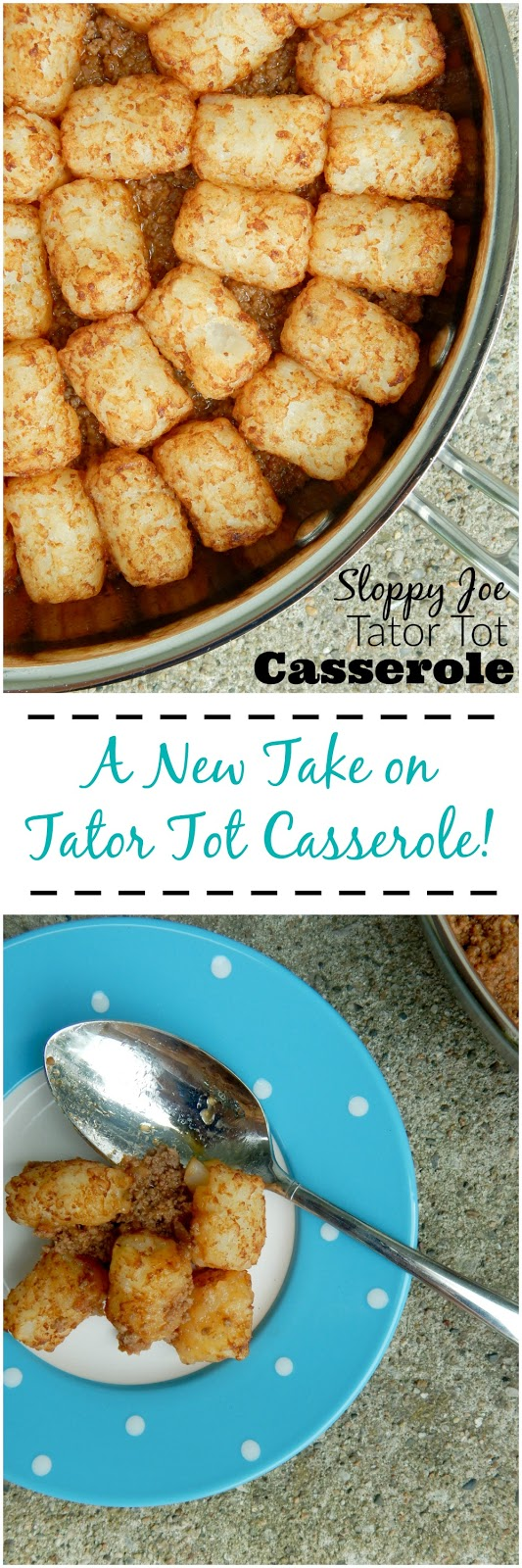 sloppy joe tator tot casserole (sweetandsavoryfood.com)
