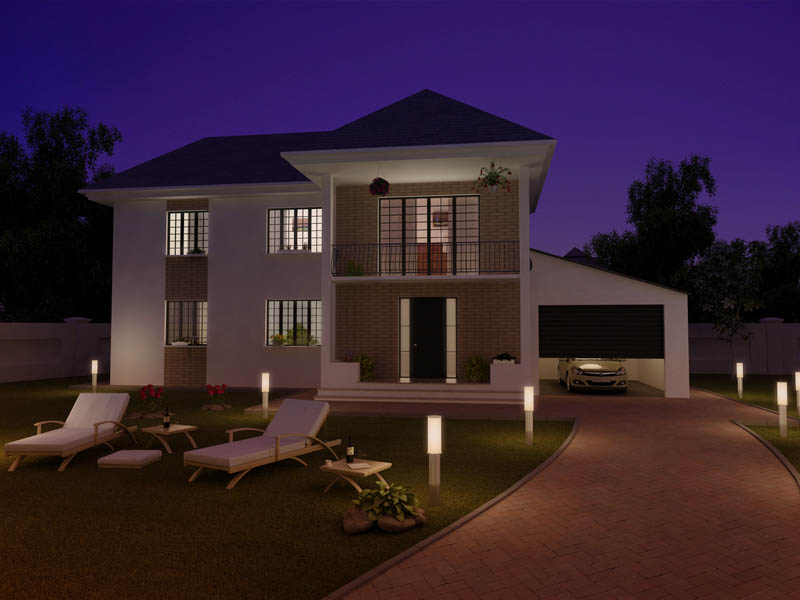 Exterior: Rendering An Exterior At Night Use Vray