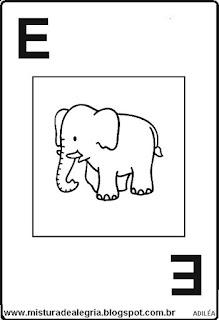 Baralho alfabético letra E