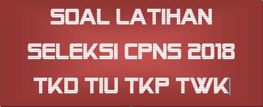 Soal Tes Cpns Dan Pppk Latihan Soal Tes Cpns 2019 Dan P3k