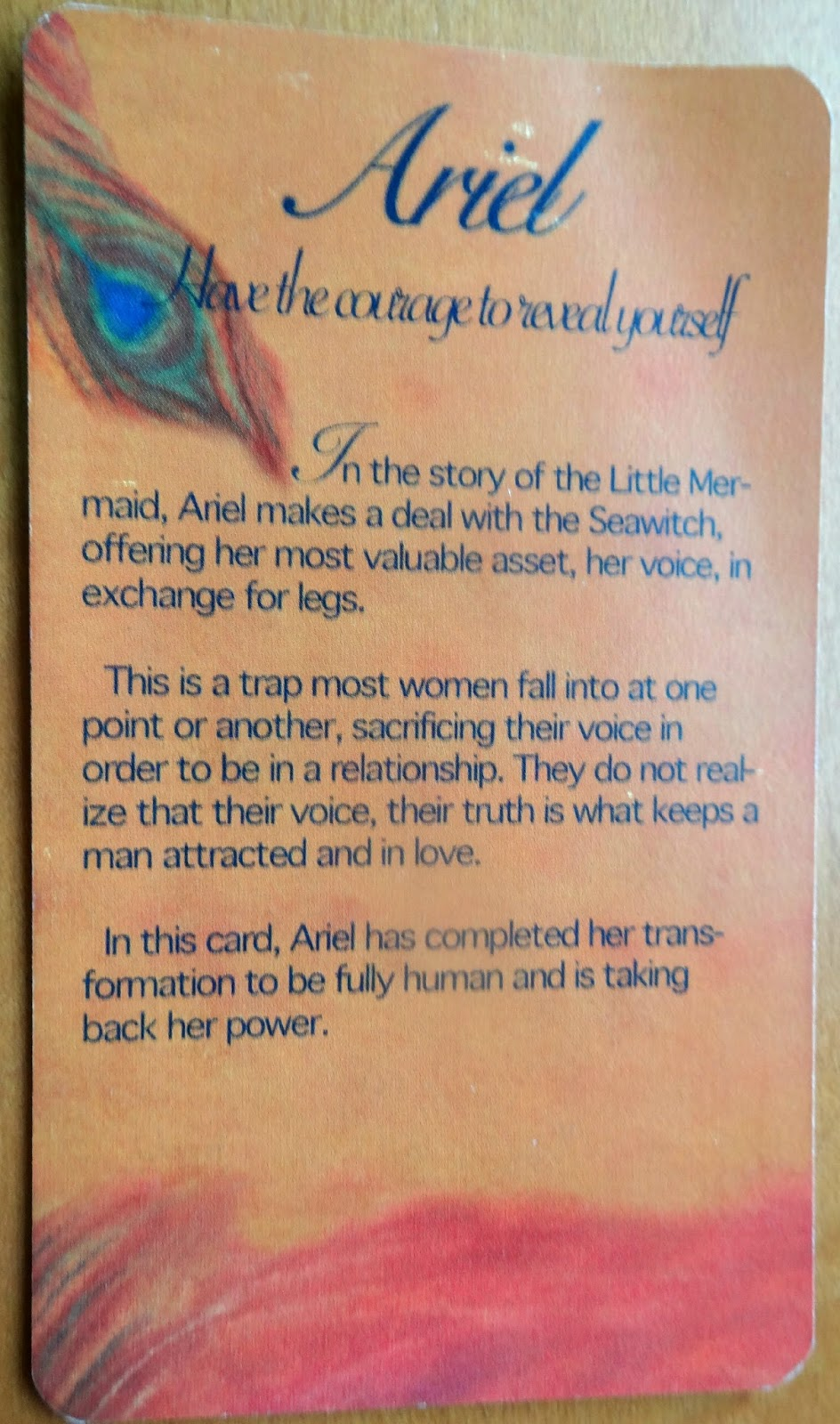 Card Back, Ariel- The Fairy Tale Oracle