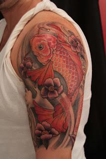 ลายสักปลาคราฟที่แขน