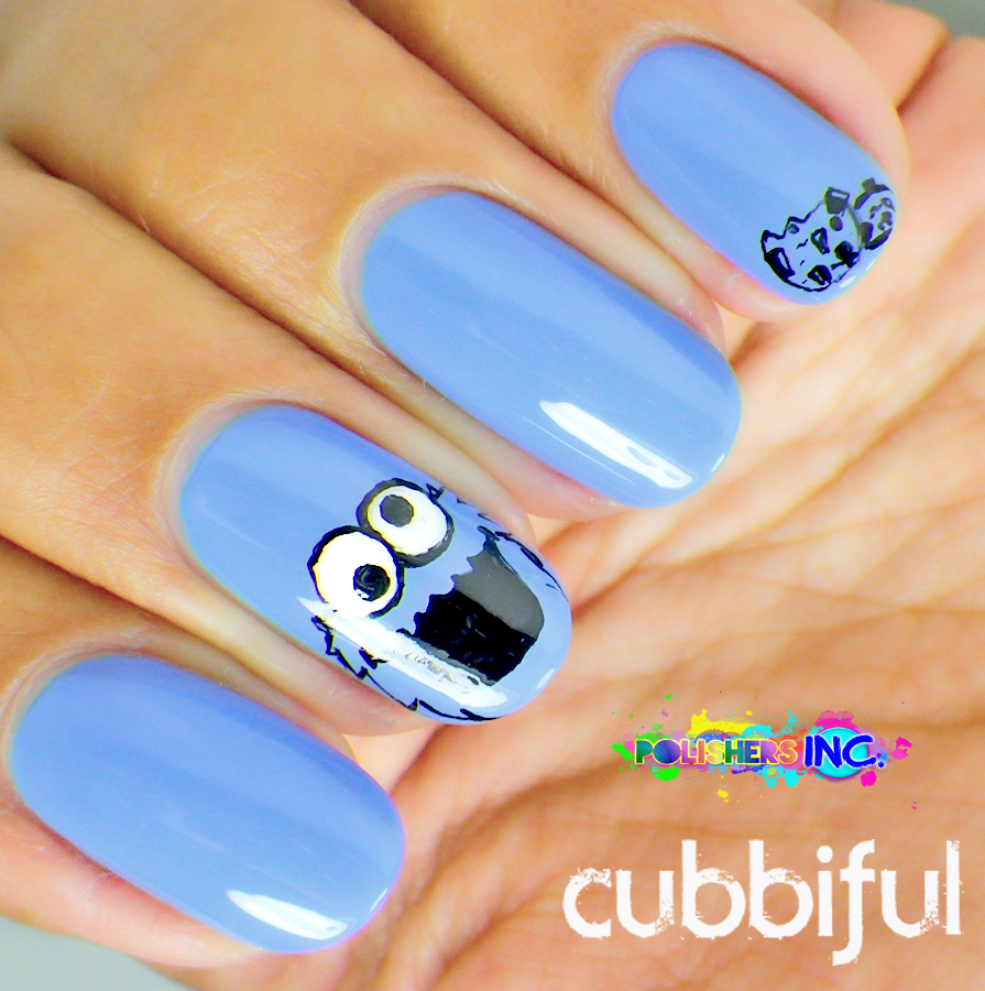 the cookie monster nails