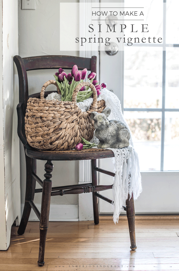 How to Make a Simple Spring Vignette