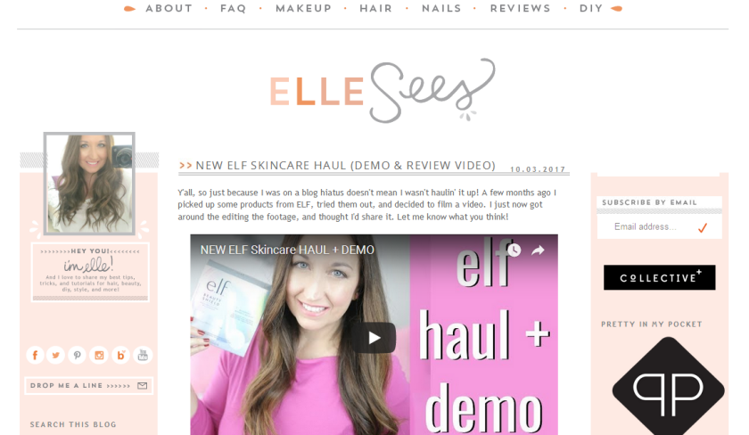bbloggers, beauty blogger, bloggers, southern blogger, featured blog, blog of the month, elle sees, support