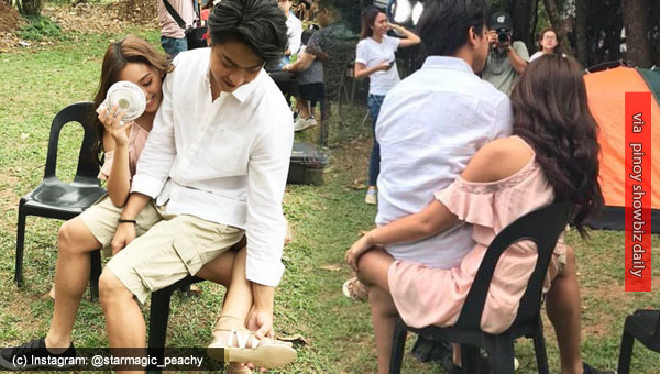 OMG! KathNiel's Can't Help Falling In Love BTS Photos