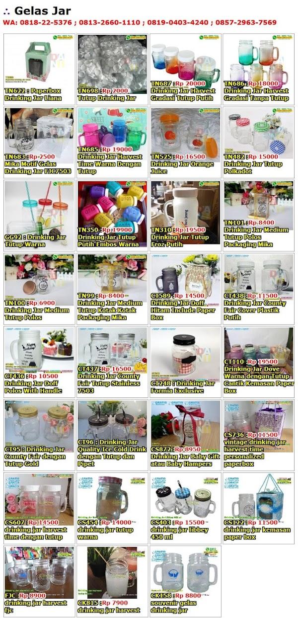 Daftar Harga Gelas Jar