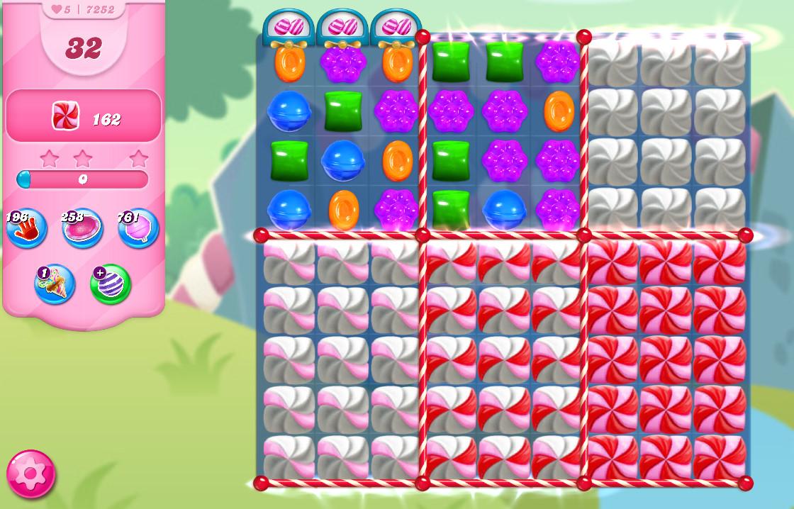 Candy Crush Saga level 7252