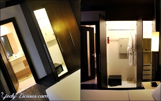 Closet at the Penthouse Suit of B Hotel in Alabang
