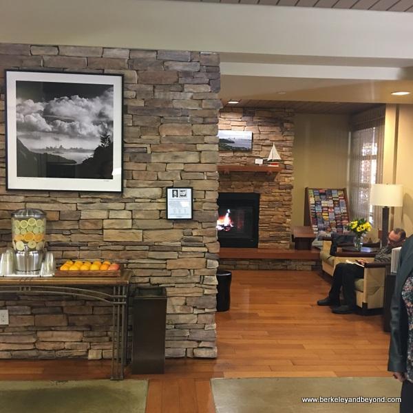 lobby of The Lodge at Tiburon in Tiburon, California