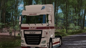 DAF E6 Skin White Red & Interior White Black