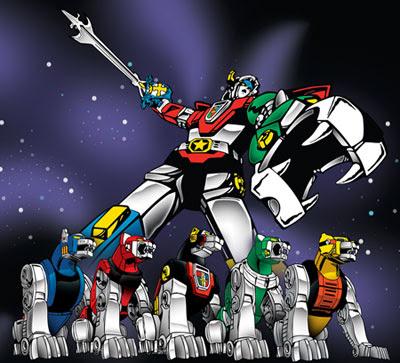 VOLTRON defender of the universe,form feet and let,robot paling ganas di alam semesta,robot berkepala harimau,kartun terbaiik dulu dulu