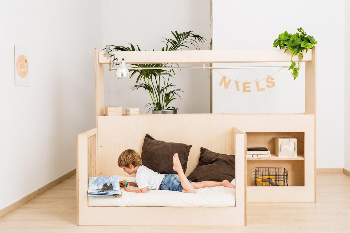 Un mueble de madera que crece con los niños|Espacios en madera