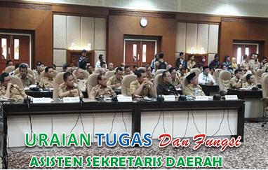 Uraian Tugas Asisten Pemerintahan Sekretaris Daerah Kabupaten/Kota