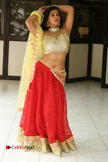 Actress Pavani Latest  Pictures in Half Saree at Campus Ampasayya Press Meet  0320.JPG