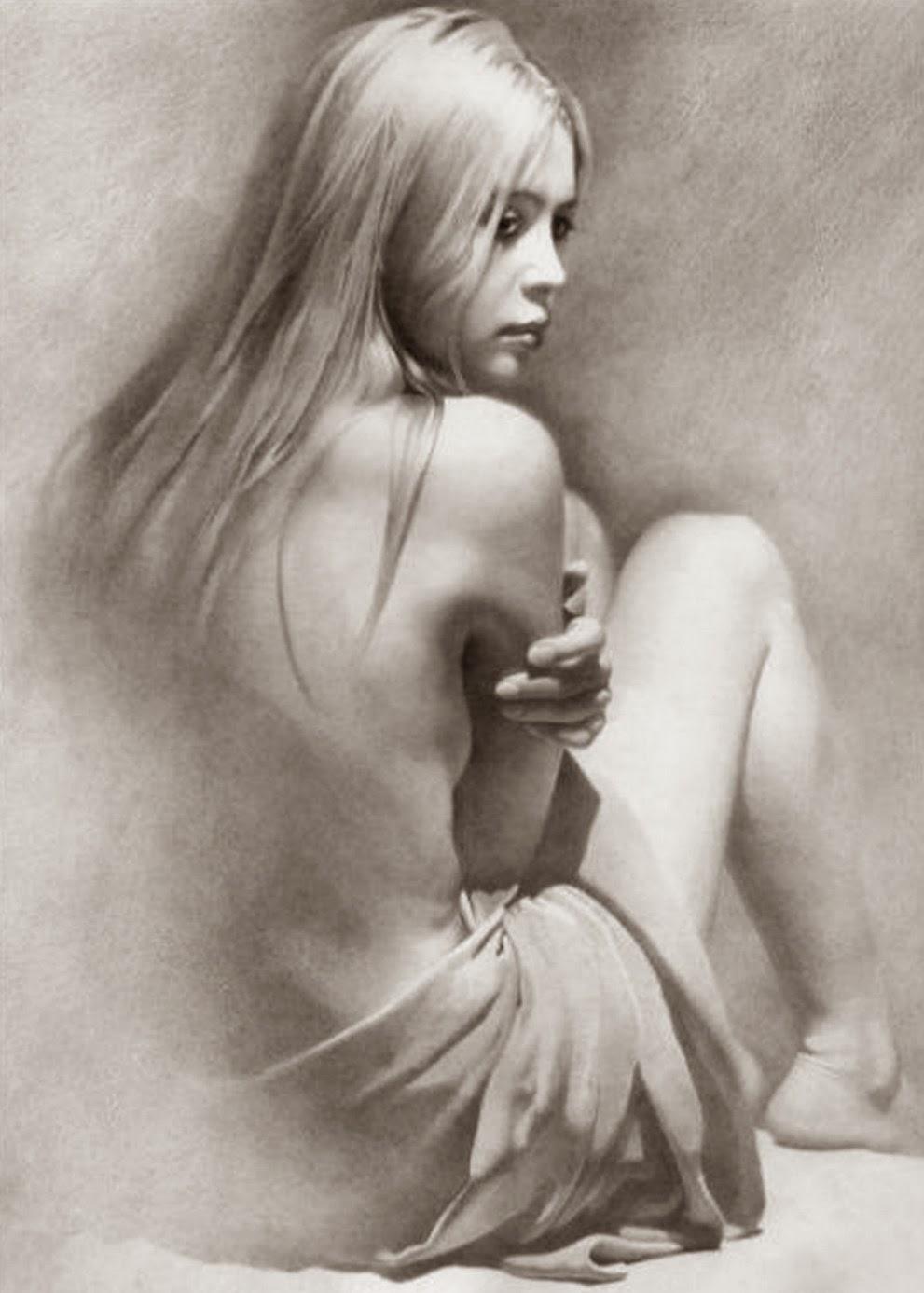 Pintura Moderna Y Fotografía Artística Dibujos Mujeres De Espalda