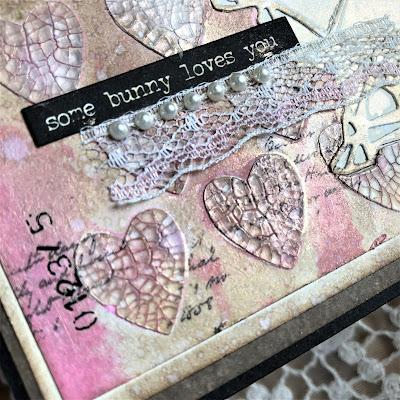 Sara Emily Barker https://sarascloset1.blogspot.com/2019/03/some-bunny-loves-you-with-tim-holtz.html Tim Holtz Geo Springtime Distress Oxide Spray Mixed Media Card 5