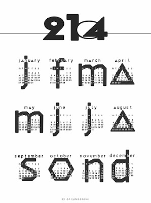 Cranberry Mix: 15 free printable calendars for 2014