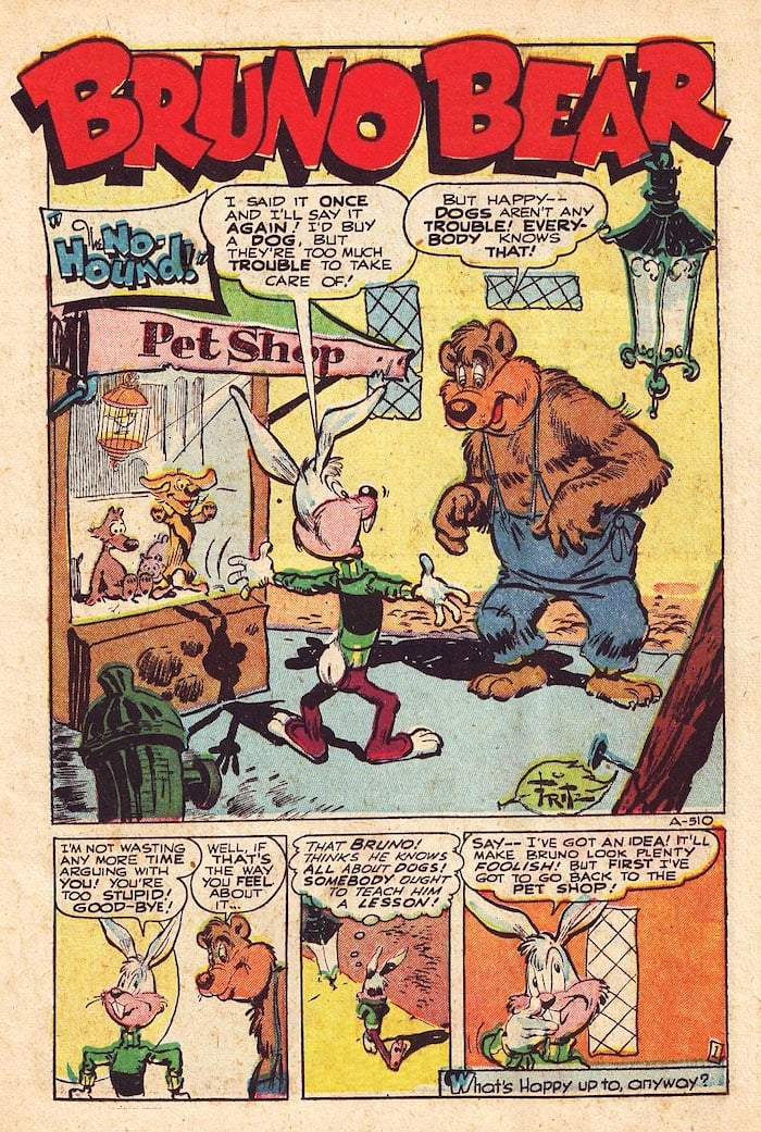 Frank Frazetta golden age funny animal comic book page