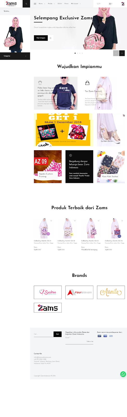 Website Online Shop Dengan Sistem Keanggotaan berbasis Wordpress