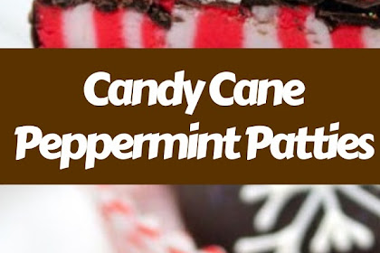 Candy Cane Peppermint Patties #christmas #snack