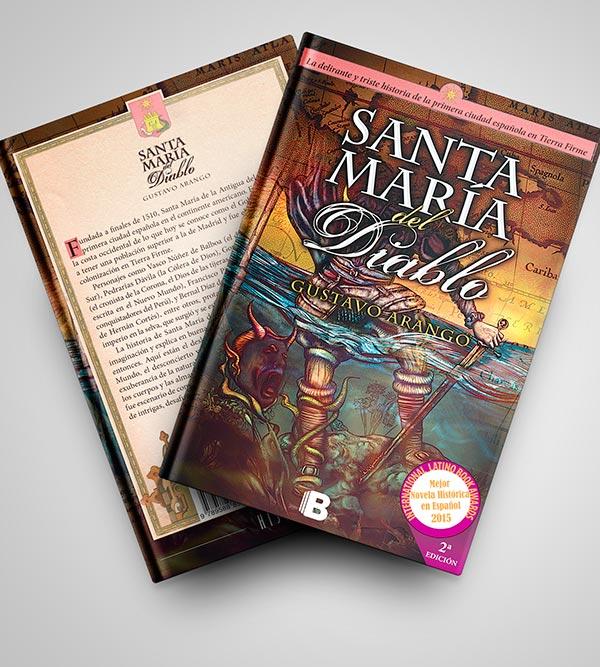 Diseño de portada y contraportada del libro Santa María del Diablo