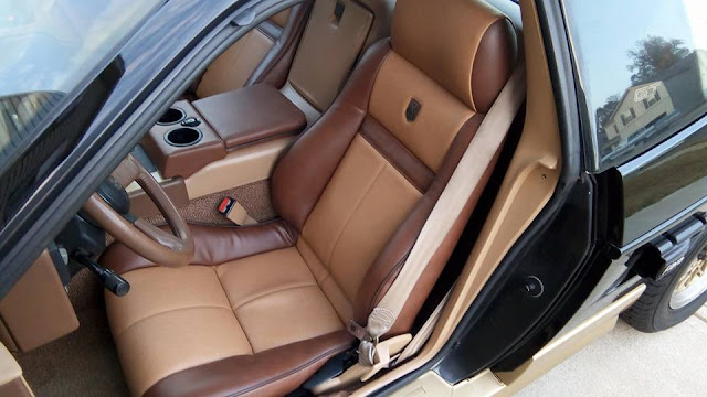 Pontiac Fiero Custom Leather Interior Design Ideas, seat upholstery